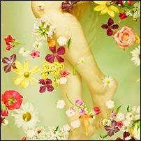 ванна с цветами и травами