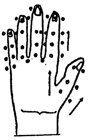 точечный массаж на руке